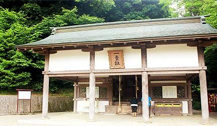 日本岡山吉備津神社一童社