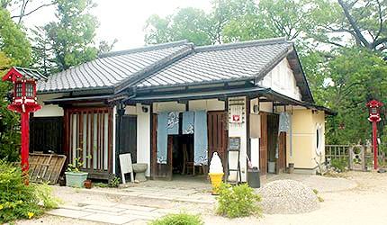 日本岡山吉備津彥神社茶屋餐廳咖啡廳