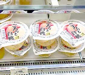 日本岡山清水白桃果凍