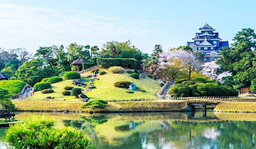 日本三大名城岡山後樂園