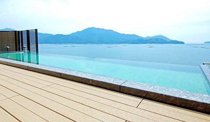 「宮濱溫泉」眺望宮島與大野瀨戶的美景