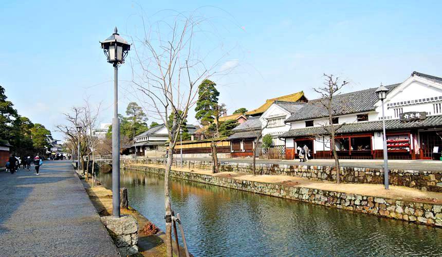 岡山倉敷「大原美術館」附近的倉敷川沿岸