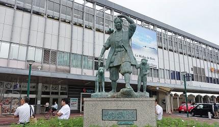 日本JR岡山站桃太郎像