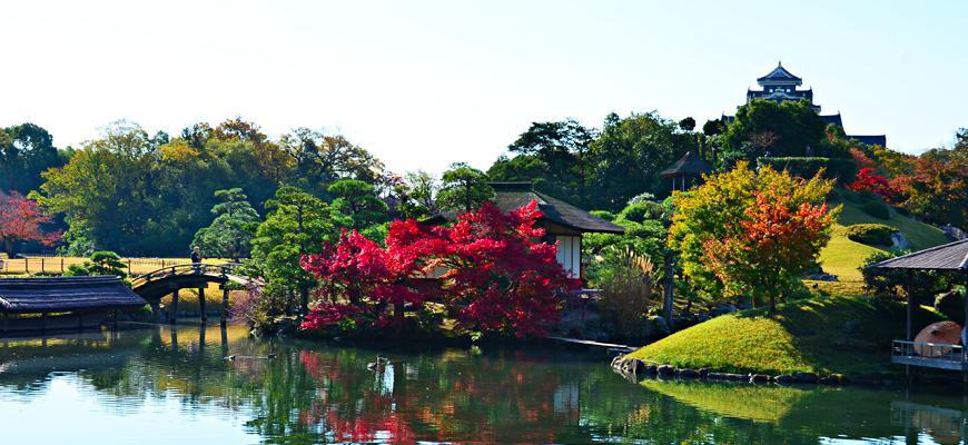 日本山陽山陰楓葉推薦岡山後樂園