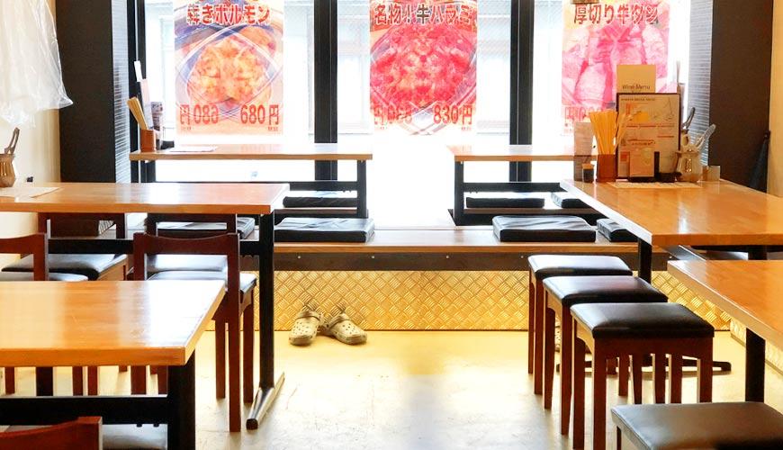 岡山車站步行可到!「炭火庵 犇き堂」高CP值燒肉店大啖和牛燒烤的店內一景