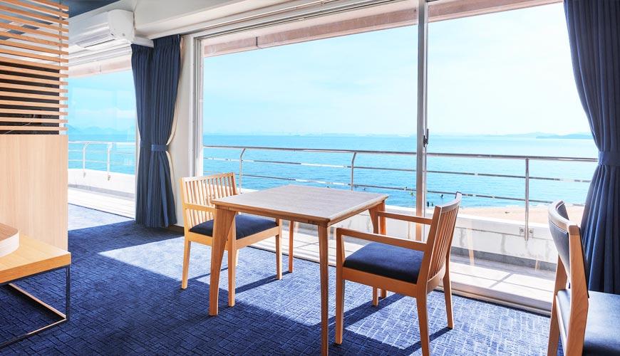 聽著海浪聲入睡!瀨戶內海第一排,離直島最近的溫泉飯店:岡山「瀨戶內鑽石濱海飯店」