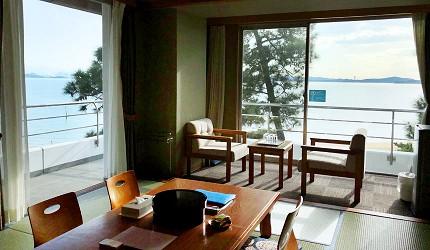 """日本岡山離直島最近的溫泉飯店:「瀨戶內鑽石濱海飯店」和室海景、山景房"""""""
