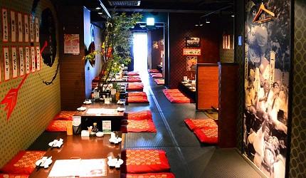 「魚と串揚げ 串かっちゃん」店內空間