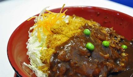 岡山必逛大型購物商場「Ario倉敷」的美食廣場的「カツ丼 城下町」的「デミカツ」(醬汁豬排)