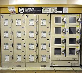岡山必逛大型購物商場「Ario倉敷」的置物櫃