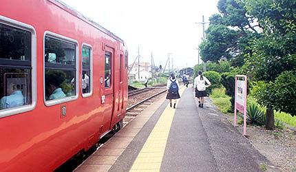 日本冈山电车桃太郎缐吉备津站出口