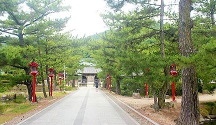 日本冈山吉备津彦神社参拜道