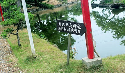日本冈山吉备津彦神社龟岛神社