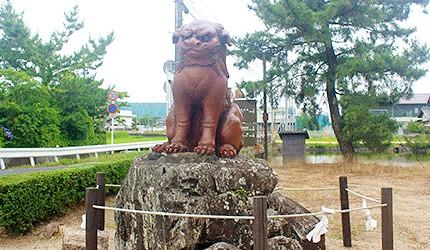 日本冈山吉备津彦神社狛犬备前烧