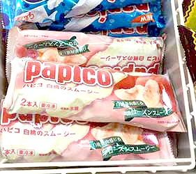 日本岡山清水白桃冰棒