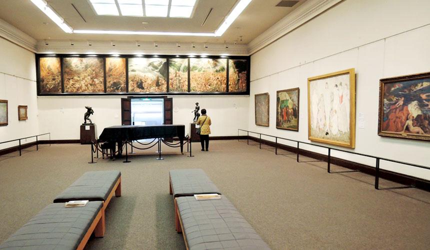 岡山倉敷必去景點「大原美術館」的本館展廳