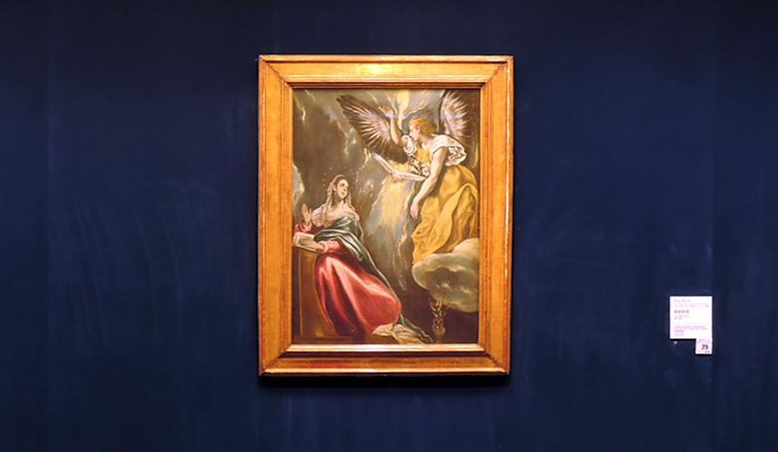 岡山倉敷必去景點「大原美術館」的名畫《受胎告知》