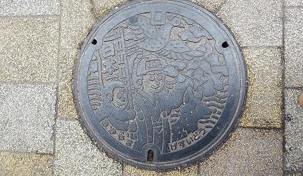 日本JR岡山站桃太郎人孔蓋