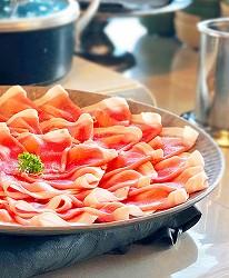冈山旅游饭店亲子住宿推荐「濑户内钻石酒店」的餐厅料理的冈山猪肉涮涮锅
