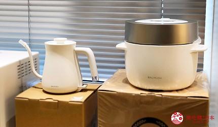 岡山表町購物必去「Omotecho Style Store」選物店販售的熱水壺與電子鍋