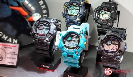 岡山表町購物必去精湛工藝手錶專賣店「TOMIYA CHRONO FACTORY 表町店」的人氣的「G-shock」潛水錶系列
