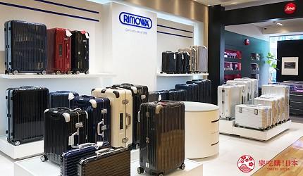 岡山表町購物必去「Omotecho Style Store」選物店的「Rimowa」行李箱銷售處