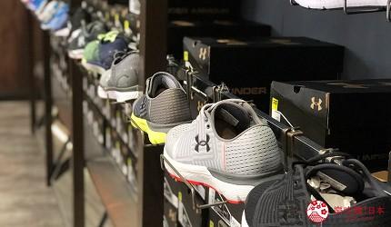 岡山購物必逛「三井 OUTLET PARK 倉敷」內的「UNDER ARMOUR FACTORY HOUSE」的鞋款