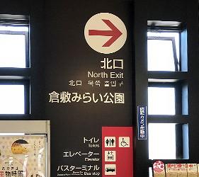 倉敷車站北口標示