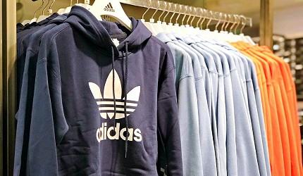 岡山購物必逛「三井 OUTLET PARK 倉敷」內的「adidas」的服飾T恤