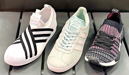 岡山購物必逛「三井OUTLET PARK倉敷」內的「adidas」鞋款「NMD」跟「GAZELLE」
