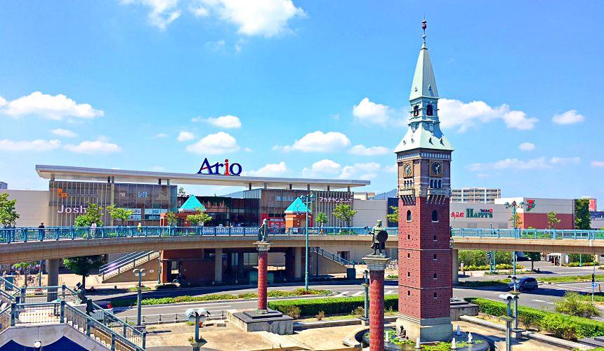 岡山購物必逛「三井OUTLET PARK倉敷」附近的「Ario倉敷」商場
