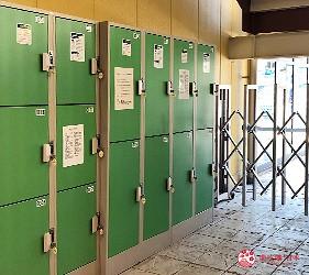 岡山購物必逛「三井 OUTLET PARK 倉敷」內的行李寄放置物櫃