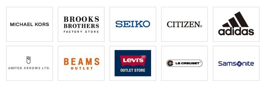 岡山購物必逛「三井OUTLET PARK倉敷」裡的各家品牌MICHAEL KORS、BROOKS、SEIKO、CITIZEN、adidas、UNITED ARROWS LTD、BEAMS、LEVIS、LE CREUSET、SAMSNITE