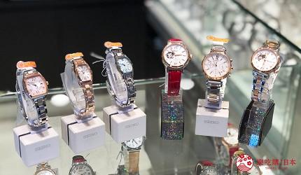 岡山購物必逛「三井OUTLET PARK倉敷」內的精工錶商店「SEIKO」的LUKIA系列