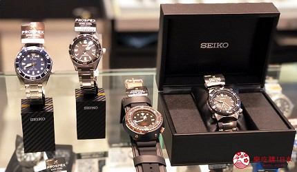岡山購物必逛「三井 OUTLET PARK 倉敷」內的精工錶商店「SEIKO」的PROSPEX潛水錶系列
