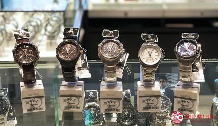 岡山購物必逛「三井 OUTLET PARK 倉敷」內的精工錶商店「SEIKO」的鈦金屬系列男錶