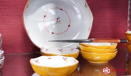 岡山購物必逛「三井 OUTLET PARK 倉敷」內的京都和風瓷器店「たち吉」的和風餐碗盤