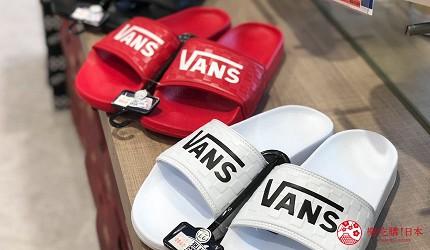 岡山購物必逛「三井OUTLET PARK倉敷」內的潮牌「HAWKINS&VANS」的VANS拖鞋