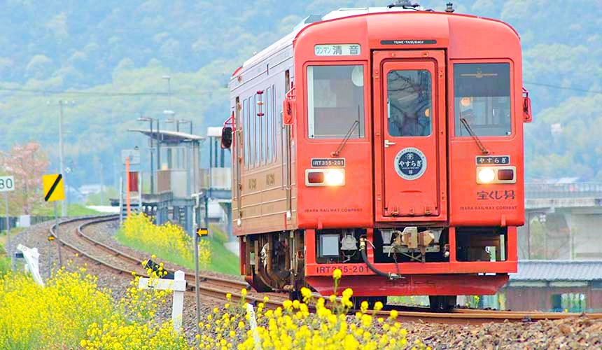 岡山倉敷出發推薦小旅行「井原線」鐵道的單節電車