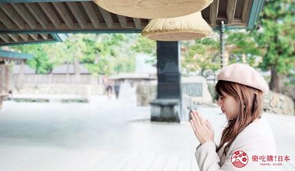 日本山陰地區島根線鳥取縣自由行推薦景點「出雲大社」參拜中