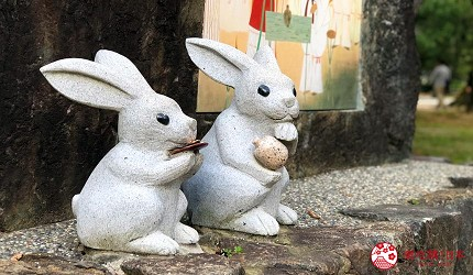 日本山阴地区岛根线鸟取县自由行推荐景点「出云大社」的出云神兔