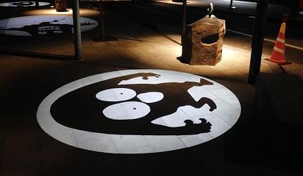 日本山陰地區島根線鳥取縣自由行推薦景點「水木茂紀念館」可愛的妖怪打燈