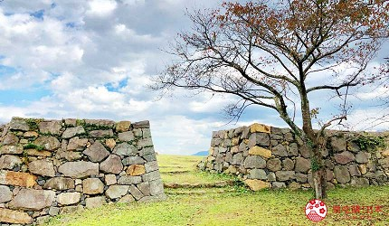 日本山陰地區島根線鳥取縣自由行推薦景點米子城遺址一景