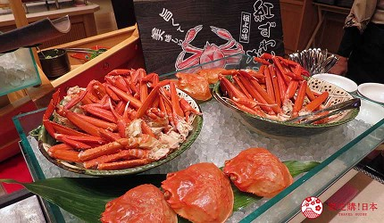 日本島根「出雲市」住宿推薦「月夜のうさぎ」溫泉會館的海鮮料理