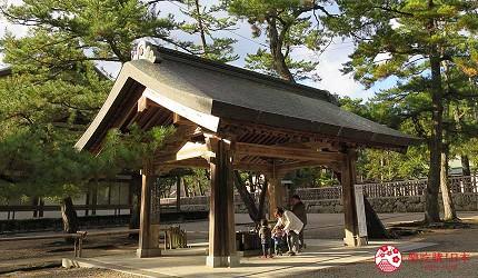 日本島根「出雲市」知名景點「出雲大社」的淨手處