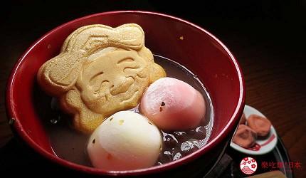 日本島根「出雲市」知名景點「出雲大社」前的神門通表參道吃湯圓紅豆湯「善哉」