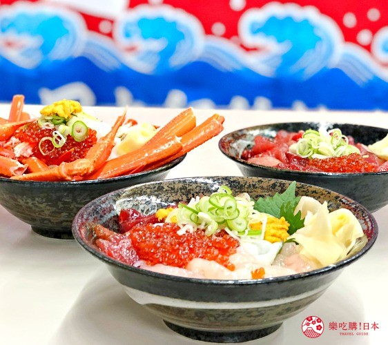 日本山阴地区岛根线鸟取县自由行推荐美食「山芳亭」的「螃蟹丼」与「综合海鲜丼」