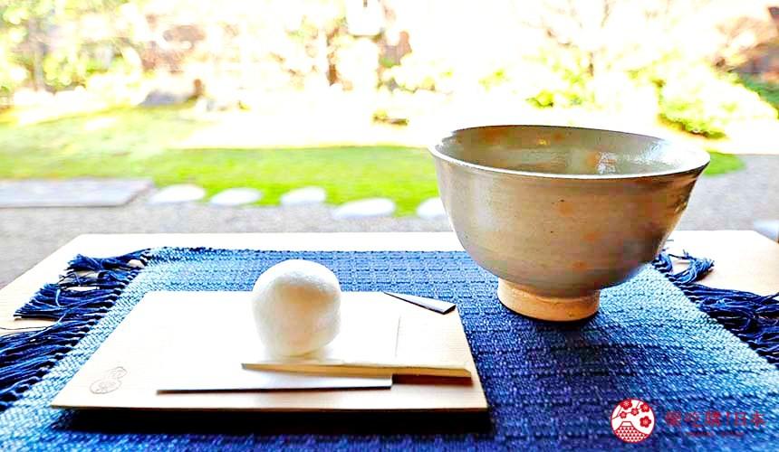 日本島根「出雲市」知名景點「出雲大社」附近的茶室松籟亭的茶點