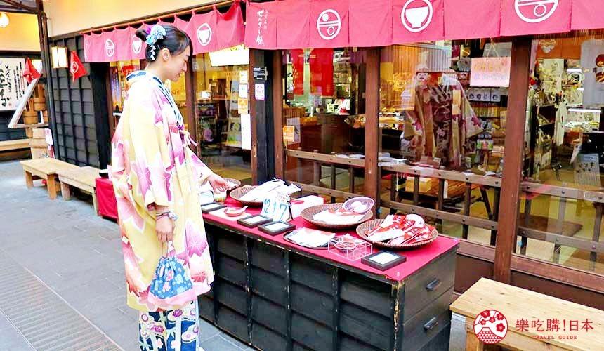 穿上和服逛日本島根「出雲市」知名景點「出雲大社」前的神門通表參道