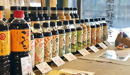 日本冈山钟乳石洞秘境去「新见」!御殿町推荐酱油老舖「カツマル」的酱油商品